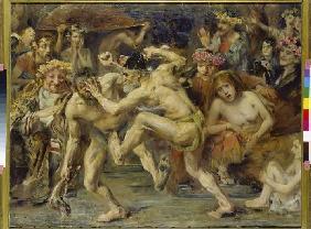 Kunstdruck von Lovis Corinth - Odysseus im Kampf mit dem Bettler