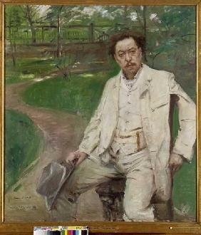 Kunstdruck von Lovis Corinth - Portrait des Pianisten Conrad Ansorge