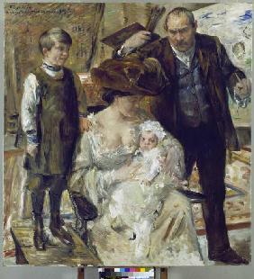 Kunstdruck von Lovis Corinth - Selbstbildnis mit Familie