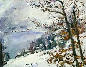 Kunstdruck von Lovis Corinth - Der Walchensee im Winter