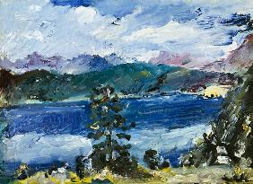 Kunstdruck von Lovis Corinth - Walchensee mit Lärche