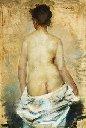 Kunstdruck von Lovis Corinth - Weiblicher Rückenakt