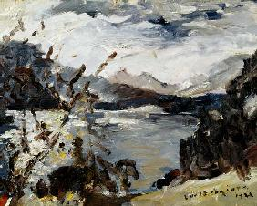 Lake Walchen Surrounded by Mountains 1925