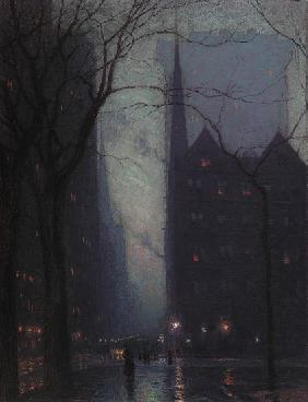 Fifth Avenue at Twilight 1910