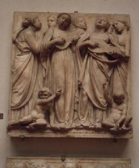 Singing angels, relief from the Cantoria c.1432-38