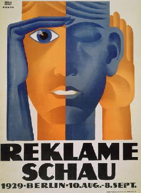 'Reklameschau', poster for the Berlin Advertising Exhibition 1929
