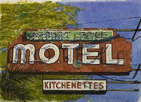 Desert Edge Motel, 2006 (w/c on paper)