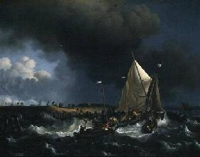 Boats in a Storm 1696