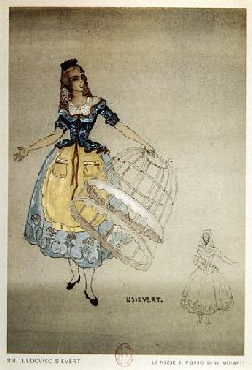 Costume Design for the opera ''The Marriage of Figaro'', by Wolfgang Amadeus Mozart (1756-91)