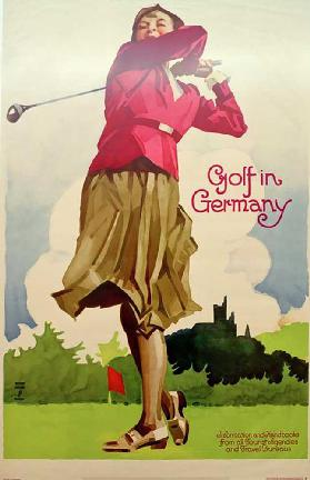 Golf in Germany / Information and Handbooks from all Tourist Agencies and Travel Bureaus 1930