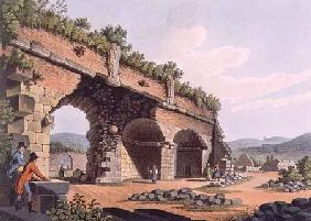 Part of the Grand Gallery of the Temple of Diana, Ephesus, plate 42 from 'Views in the Ottoman Domin 1810