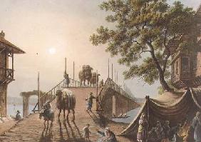 Ponte Piccolo in Romania, plate 9 from 'Views in the Ottoman Dominions', pub. by R. Bowyer 1809