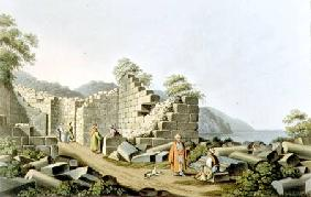 Ruins of an Ancient Temple in Samos, plate 58 from 'Views in the Ottoman Dominions', pub. by R. Bowy 1810