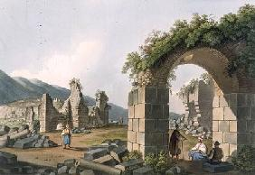 Ruins of the Baths at Ephesus, plate 43 from 'Views in the Ottoman Dominions', pub. by R. Bowyer 1810