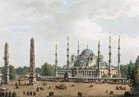 The Mosque of Sultan Achmet at Constantinople, plate 2 from 'Views in the Ottoman Dominions', pub. b 1810