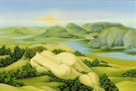 The Legend of Balaton, 2003 (oil on canvas)