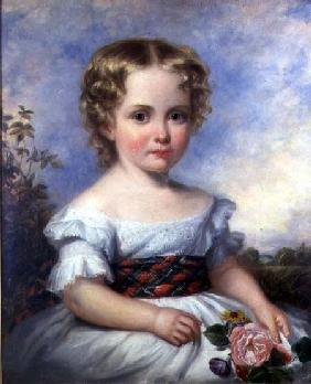 Portrait of a Young Girl with a Tartan Sash