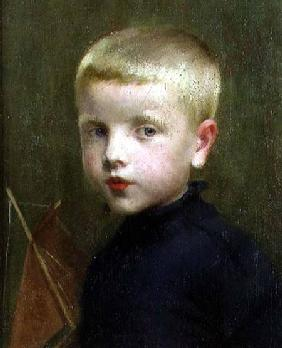 Portrait of a Boy with a Model Sailing Boat 1893