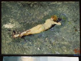 Kunstdruck von Mariano Fortuny - Weiblicher Akt im Wasser