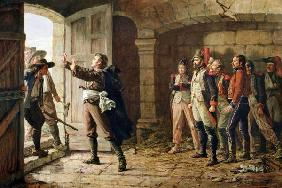 Maurice Gigost d'Elbee (1752-94) Protecting the New Prisoners at Chemille April 1793