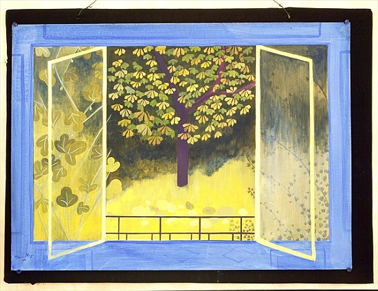 the chestnut tree 1987 acrylic on boar marie hugo als kunstdruck oder handgemaltes gem lde. Black Bedroom Furniture Sets. Home Design Ideas