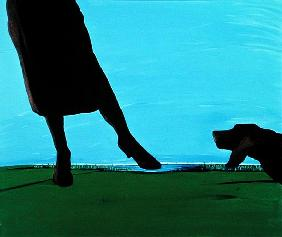 First Encounter, 1997 (acrylic on canvas)