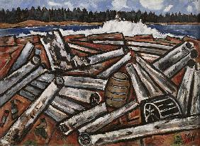Log Jam, Penobscot Bay 1940-41
