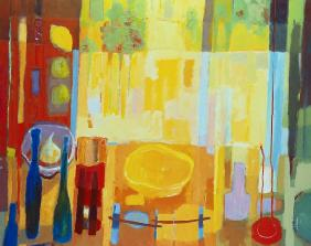 Orchard/Thanksgiving, 2000 (acrylic on canvas)