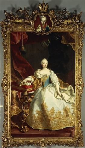 Portrait of Empress Maria Theresa with Joseph II as a child
