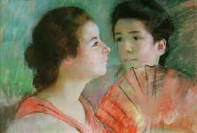 Young Lady Reading Kunstpostkarte Junge Frau lesend Mary Cassatt
