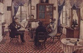 Anthony and Three Friends Playing a String Quartet