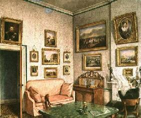 Col. Norcliffe's study at Langton Hall c.1837