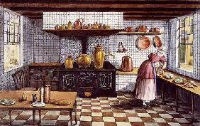 Kitchen of the Hotel St.Lucas, in the Hoogstraat, Rotterdam 1834