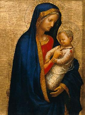 Madonna Casini (tempera & gold leaf on panel) 19th