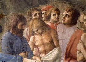 St. Peter Baptising the Neophytes (Detail of faces in the crowd) c.1427