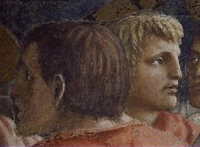 Tribute Money (The Tax Collector and an Apostle - detail of 31642) c.1427 (fresco)
