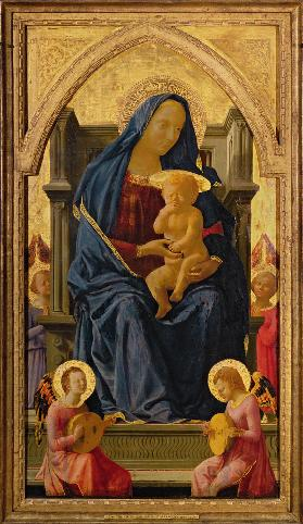 Virgin and Child, 1426 (tempera on panel) (see 199298 for detail) 19th