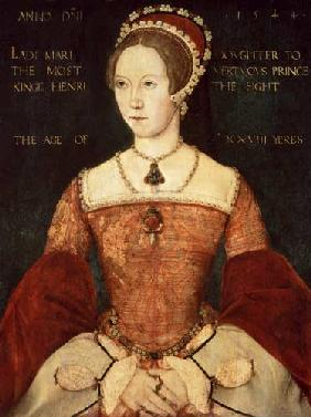 Portrait of Mary I or Mary Tudor (1516-58), daughter of Henry VIII, at the Age of 28 1544