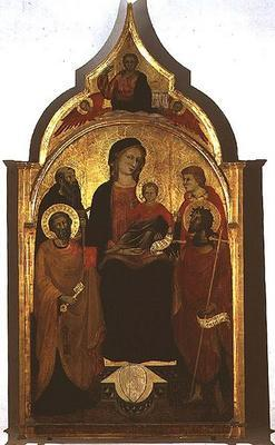 Madonna and Child with Saints, 1415 (tempera on panel) 17th