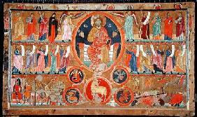 Altar frontal depicting Christ in Glory with saints and prophets and the martyrdom of St. Felix, fro 1260