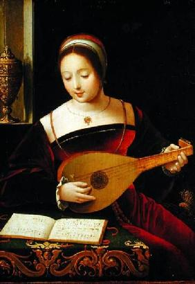 Mary Magdalene Playing the Lute