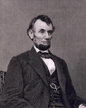 Abraham Lincoln, engraved from a photograph by William G. Jackman (engraving) 19th