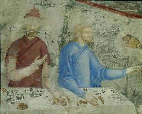 The Feast of Herod, detail from the chapel of St. Jean 1347