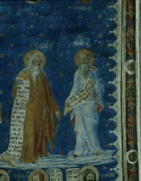 The Prophets fresco in the Salle de la Grande Audience (The Audience Chamber), detail depicting the c.1344-5