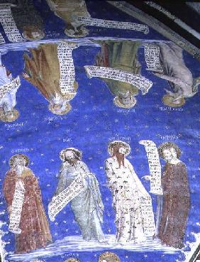 The Prophets Job, Isaiah, Jeremiah, Solomon, Moses, Ezekiel, David and Enoch from La Salle de la Gra  c.1353