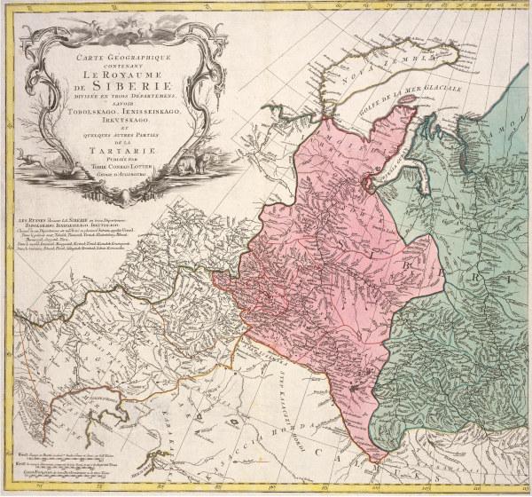 landkarte sibirien von lotter um 1770 matth us albrecht lotter als kunstdruck oder. Black Bedroom Furniture Sets. Home Design Ideas