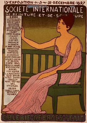 Reproduction of a poster advertising the 'Georges Petit Gallery', Paris 1897