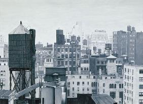 Max Ferguson - New York Water Towers, 2002 (oil on panel)