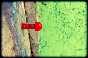 Red screw