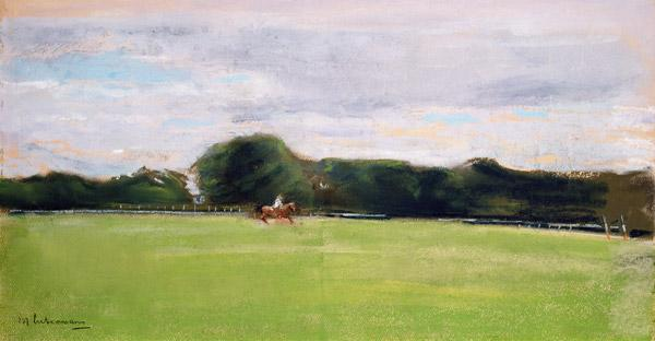 The Polo Field in Jenischs Park, 1902 (pastel on paper)